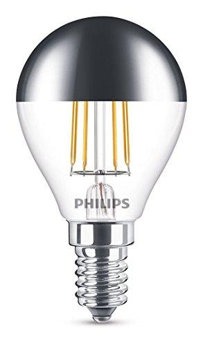 Philips Sfera Lampadina LED, Attacco E14, 4 Watts, Grigio, 8.2x4.5x4.5 cm