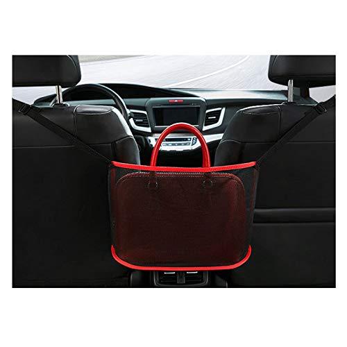 Soporte para bolso con bolsillo de red para automóvil, organizador de malla en el respaldo del asiento, bolsa de red para almacenamiento del conductor, almacenamiento para documentos de cartera