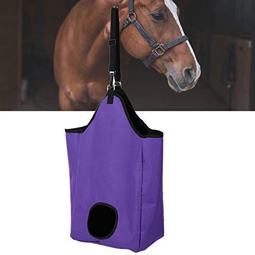 AYNEFY Heu-Tasche,Heunetz Heu Heu-Tasche für Pferde Große Kapazität Oxford Stoff Horse Hay Einkaufstasche Feed-Zubehör Farm Supplies für Pferde Kühe Esel (Lila)