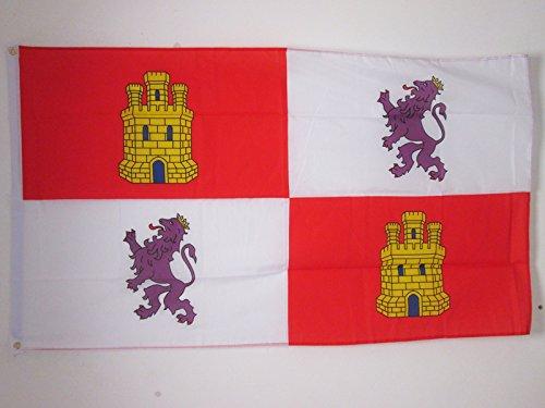 AZ FLAG Bandera de Castilla Y LEÓN 150x90cm - Bandera CASTELLANOLEONESA 90 x 150 cm