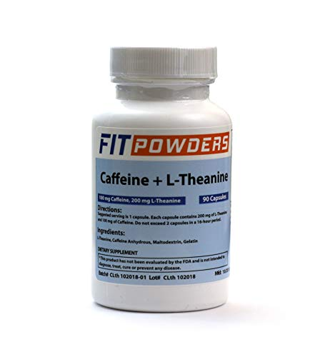 Powder City Caffeine and Theanine Capsules (90 Ct)
