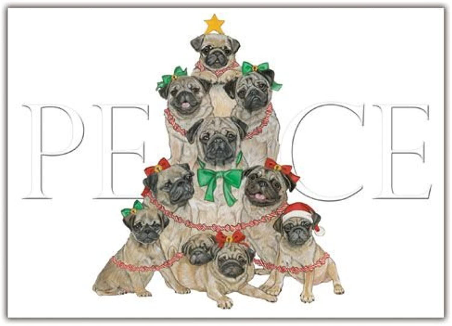 Pipsqueak Productions C563 Pug Holiday Boxed Cards