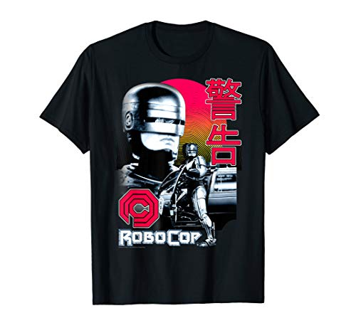 RoboCop Collage Poster and Japanese Text T-Shirt, S to 3XL