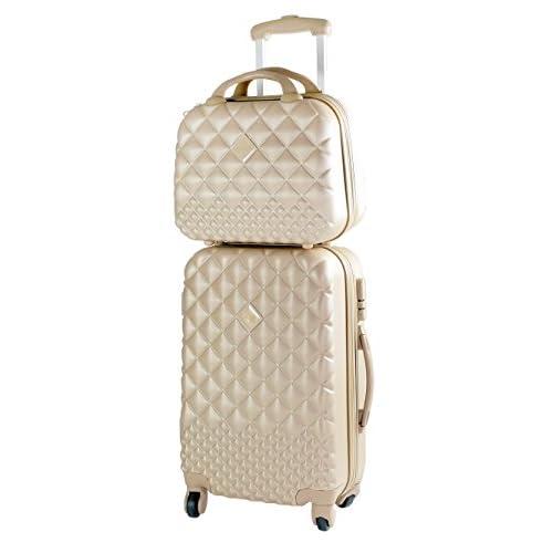 Camomilla Milano set valigia 46lt + vanity case 12lt beige