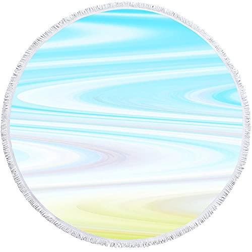 Toalla Adecuada para Toallas De Baño De Piscina De Playatoalla De Playa Redonda, A Rayas, Microfibra, Uniéndose Sumotional-Estilo 5_150 * 150 Cm