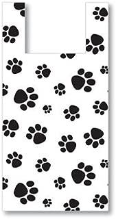 50 Large Bags High Density .5 Mil Paw Print Dog Animal Vendor Retail Gift Shopping T Shirt Bag 11.5x6.5x22