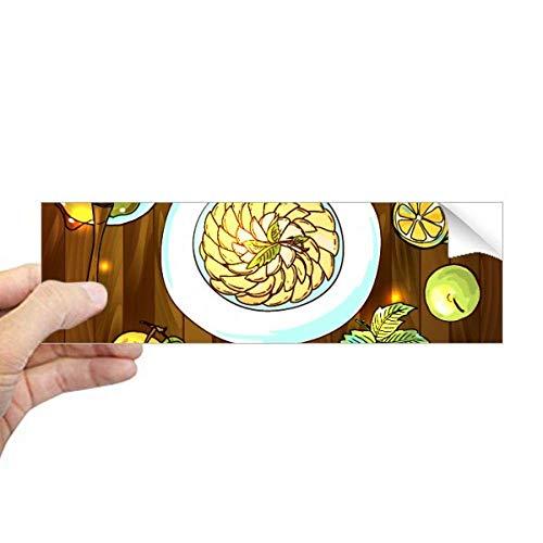 DIYthinker Ik hou van koken Geslagen eieren Honing Rechthoek Bumper Sticker Notebook Window Decal