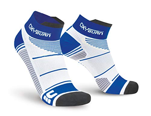 Oxyburn Run Evospeed Light-Short-Cut M Chaussettes Homme, White/Maldive, Size 39/41