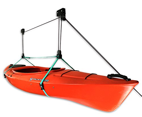 StoreYourBoard Kayak Ceiling Storage Hoist   Hi-Lift Home & Garage Hanging Pulley Rack (Pro)
