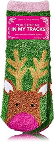 Bath and Body Works You Stop Me In My Tracks Reindeer Shea Infused Cozy Lounge Socks