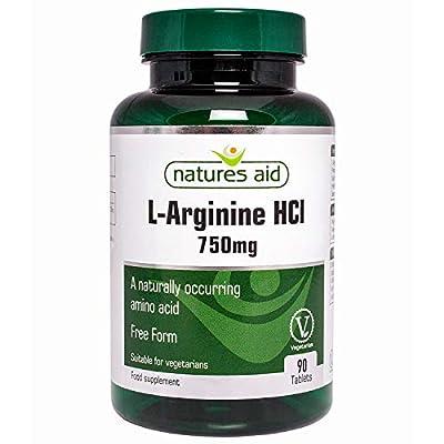 Natures Aid 750mg L-Arginine Tablets - Pack of 90