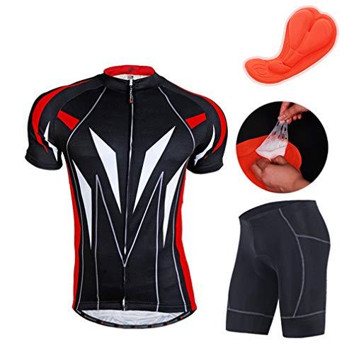 Mountainbike fietsshirt met korte mouwen, ademend en sneldrogend voor heren