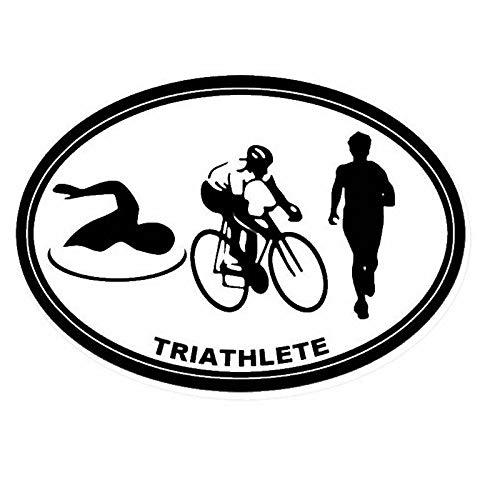 JXLLCD Triathlon Schwimmer Auto Wandaufkleber Aufkleber Schwimmen Poster Vinyl Wandtattoo Dekoration Wandbild Triathlon 58x82 cm