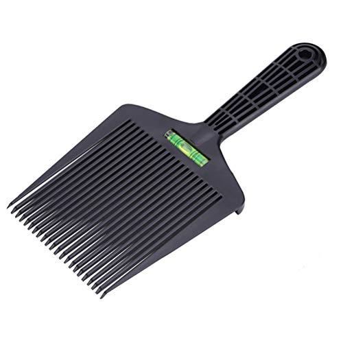 Macabolo Peigne à cheveux à double extrémité plat avec système de nivellement d'eau précis pour homme Salon Barber