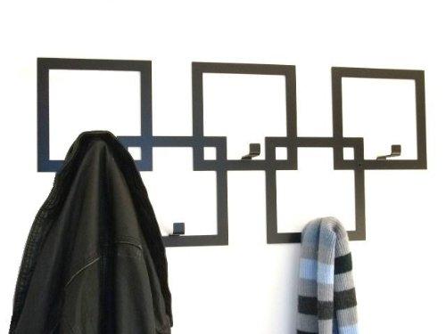 The Metal House Appendiabiti da muro, stile moderno, colore: nero