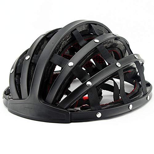 ZJRA Casco de Bicicleta de Casco Plegable, Certificado EN1078, montaña Impermeable para...