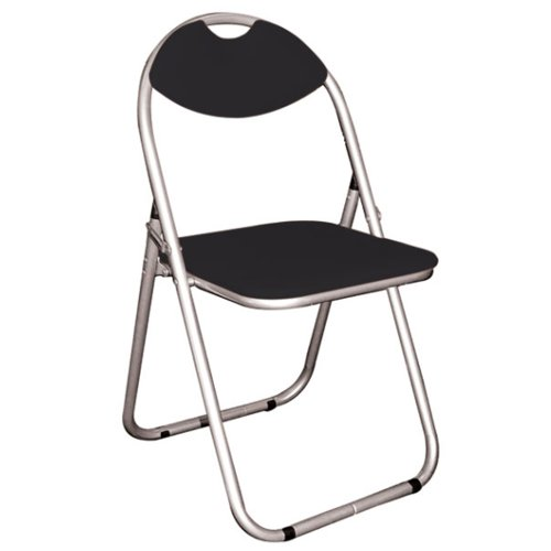 Watsons on the Web Perch - Metal Framed Folding Padded Chair - Silver/Black