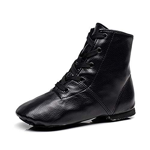 RUYBOZRY Niño, Hombre y Mujer Zapatos de Jazz para niñas Zapatos de Baile Modernos Negros,Modelo-TJ-Jazz-GBPU,Tacón-0.5CM,Negro,44 EU