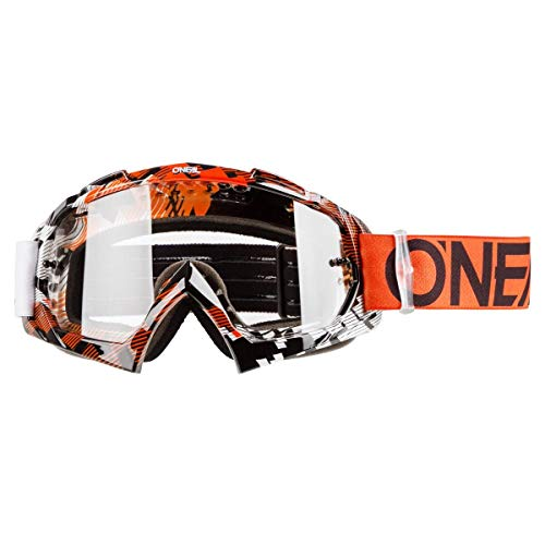 O'NEAL | Fahrrad-& Motocross-Brille | MX MTB DH FR Downhill Freeride | Hochwertige 1,2 mm-3D-Linse für ultimative Klarheit, UV-Schutz | B-10 Goggle | Erwachsene Unisex | Schwarz Neon | One Size