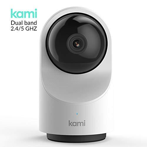 Kami Überwachungskamera 1080p Full HD Mit Personenerkennung Sicherheitskamera Für Den Innenbereich Diebstahlsicher Mit Kostenloser Cloud-Speicherung, WLAN IP Kamera HD Datensicherheit