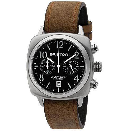Briston–Clubmaster Classic acciaio–Cronografo Quadrante Nero