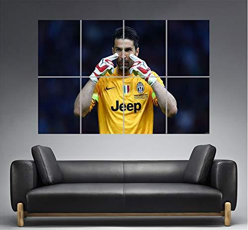 Gianluigi Buffon Juventus Concentration Best Goal Wall Art Poster A0