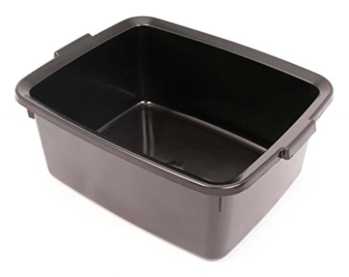 Addis Plastic Butler Large Rectangular Bowl, Soft Black, 12.5 Litre