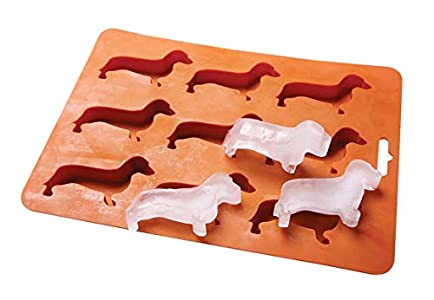 LYWUU Dachshund Dog Shaped Silicone Ice Cube Molds and Tray