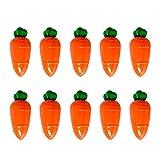 Toddmomy Suministros de Fiesta de Pascua Caja de Dulces de Zanahoria de Plástico Contenedor de Regalo de Regalo Fiesta de Pascua Decoración de Mesa Centros de Mesa para Niños Cumpleaños