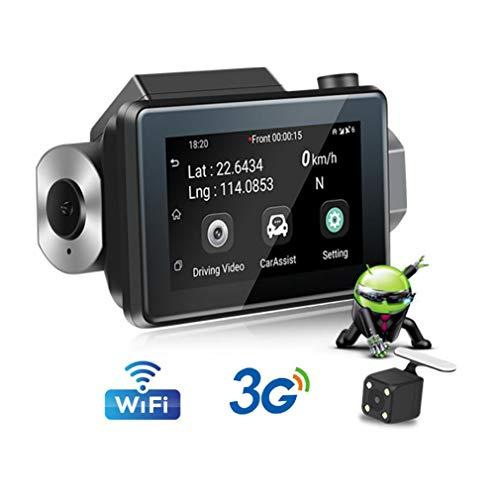 SZKJ K9 Cámara oculta 3G WiFi para salpicadero de coche DVR con pantalla táctil IPS de 3,0 pulgadas Android grabadora de cámara 1080P pista de registro GPS monitor remoto de
