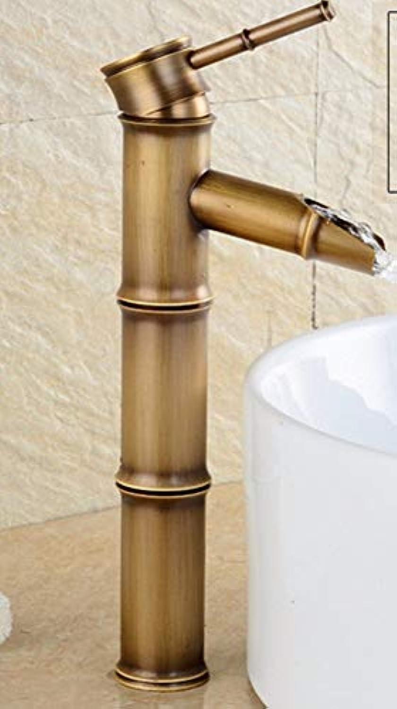 Ywqwdae Europa und die vereinigten Staaten Retro stylell Kupfer einzigen handgriff einlochmontage waschbecken und kalten sinken Wasserhahn