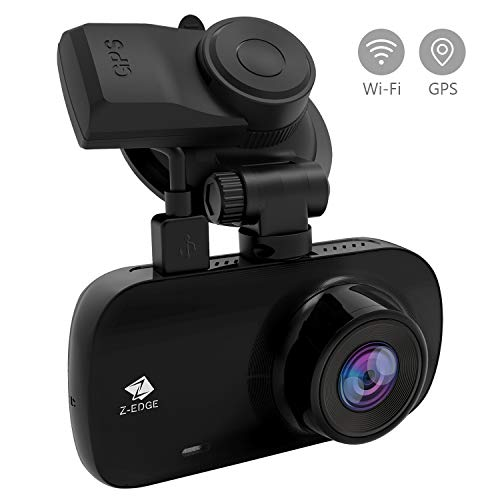 [2020 Version] Z-Edge WiFi GPS Dashcam Ultra HD 1440P Autokamera 2,7 Zoll LCD Bildschirm, 150° Weitwinkel, Loop-Aufnahme, WDR, G-Sensor, Parkmodus, Bewegungserkennung, inkl. Kfz Ladegerät