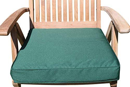 Garden Market Place Sitzkissen für Gartenmöbel, Sessel, für große Gartenstühle, Grün, 95 X 45 X 35