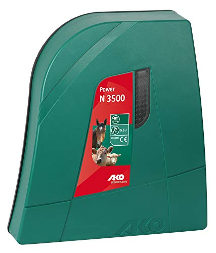 AKO Weidezaungerät Power N 3500-230 Volt - Netzgerät mit optischer Zaun- und Erdkontrolle - Ladeenergie 5,5 Joule