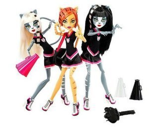 EXCLUSIVE Monster High ( Monster High ) 3-PACK FEARLEADING Werecats TORALEI Meowlody and Purrsephone Doll doll figure ( parallel import ) by Fearleaders