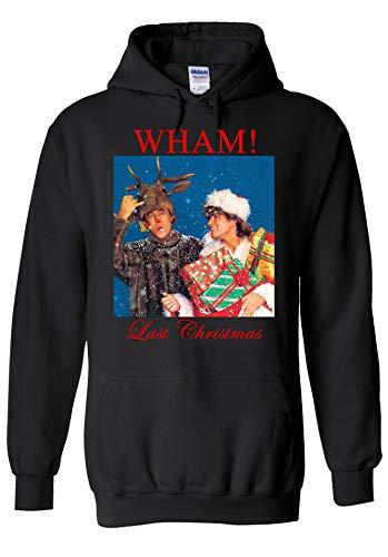 PrintPeople Last Christmas Wham George Michael Xmas Gift Retro Black Men Women Unisex Top Sweatshirt Kapuzenpullover Hoodie-2XL