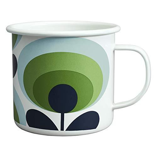 1970s Oval Flower Print Mug, Apple Colour. By Orla Kiely