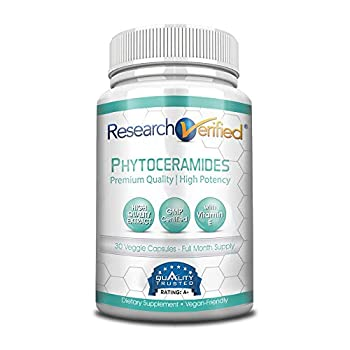 Research Verified 100% Pure Phytoceramides - 100% Pure Wheat Extract Oil - with Vitamin E- #1 Wrinkles Fighter - 30 Capsules - 1 Month Supply