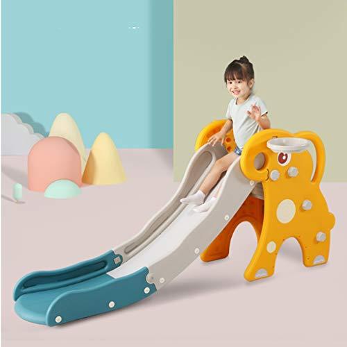 Slide Faltbare Kleinkind Rutsche, freistehende Kleinkind Abkantschieber Kinderrutschen und Kletter Indoor Kids Play Einfache Montage komplett geschlossen Pedal