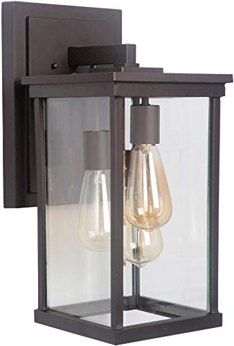 """Craftmade Z9724-OBO Riviera Outdoor Wall Mount Sconce Lighting, 3-Light, 180 Watts, Oiled Bronze (8""""W x 17""""H)"""