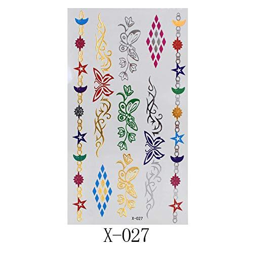 10 autocollants de tatouage en métal rétro style européen et américain bracelet autocollants 150 * 85mm X-027