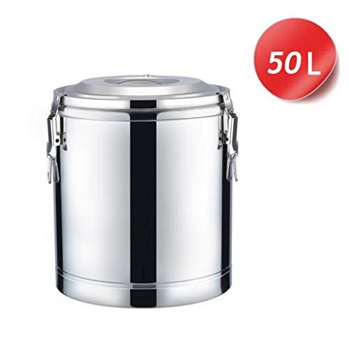 HuLiTea Glühweinkocher Catering-Urne Edelstahl mit großem Fassungsvermögen, Milch, Tee, Kaffee, Fass, Hitzebeständigkeit und Kältebeständigkeit (Size : 50L)