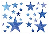 I-love-Wandtattoo Pegatina de Pared Set habitación Infantil Estrellas de Acuarela en Azul para Pegar Mural Pegatinas