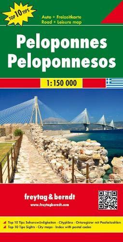 Peloponeso, mapa de carreteras. Escala 1:150.000. Freytag & Berndt.: Toeristische wegenkaart 1:150 000 (Auto karte)