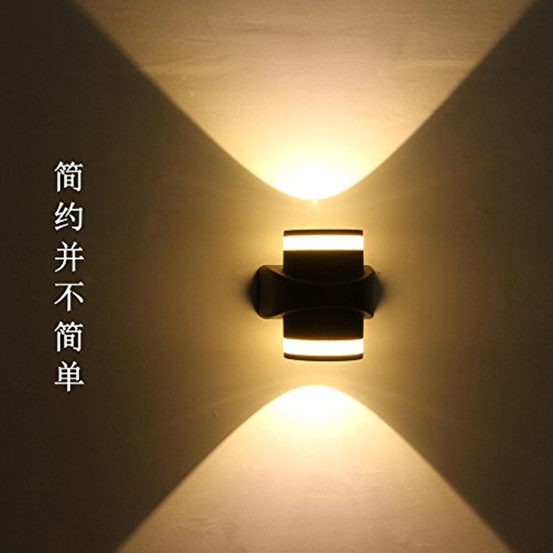 StiefelU LED Wandleuchte nach oben und unten Wandleuchten Led outdoor Aluminium Wandleuchten Innenhof mit Garten Lampe Warm-wasser-resistent, Dual Head 10W