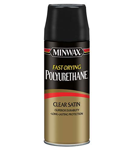 Minwax 33060000 Fast-Drying Polyurethane Aerosol, 11.5 ounce, Satin