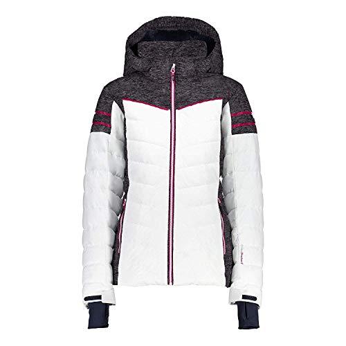 CMP Skijacke Snowboardjacke Woman Jacket Zip Hood weiß Winddicht wasserdicht (40)