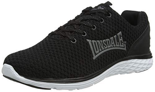 Lonsdale SILWICK, Scarpe per Jogging su Strada Uomo, Nero Grigio, 44.5 EU
