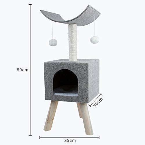 MKLI Four seasons available cat climbing frame solid wood cat nest cat toy sisal cat tree cat scratching board cat jumping platform,1