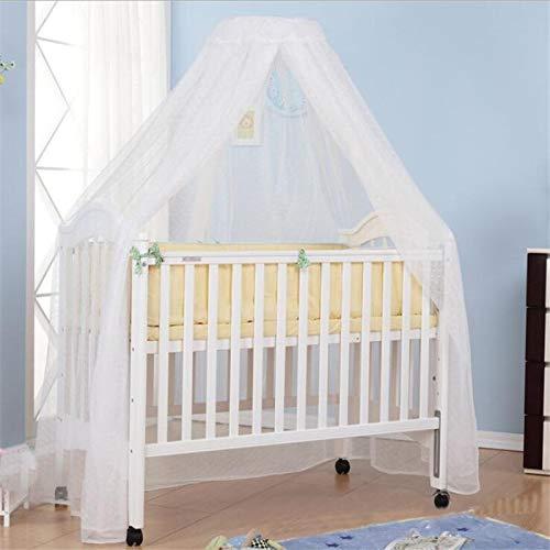 NO LOGO KF-Net Baby Moskitonetz mit Aufschrift, Sommer-Netz, Kuppel-Vorhang, für Neugeborene, Kleinkinder, tragbarer Betthimmel weiß